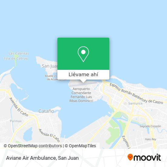 Mapa de Aviane Air Ambulance