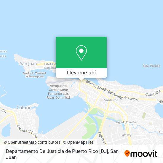 Mapa de Departamento De Justicia de Puerto Rico [DJ]