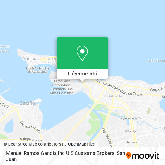 Mapa de Manuel Ramos Gandia Inc U.S.Customs Brokers