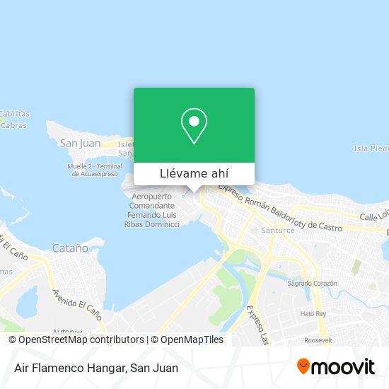 Mapa de Air Flamenco Hangar
