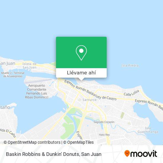 Mapa de Baskin Robbins & Dunkin' Donuts