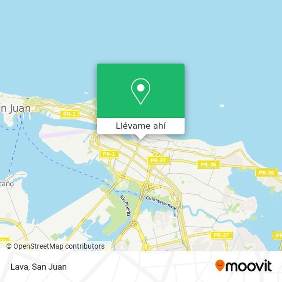Mapa de Lava