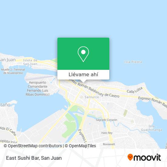 Mapa de East Sushi Bar