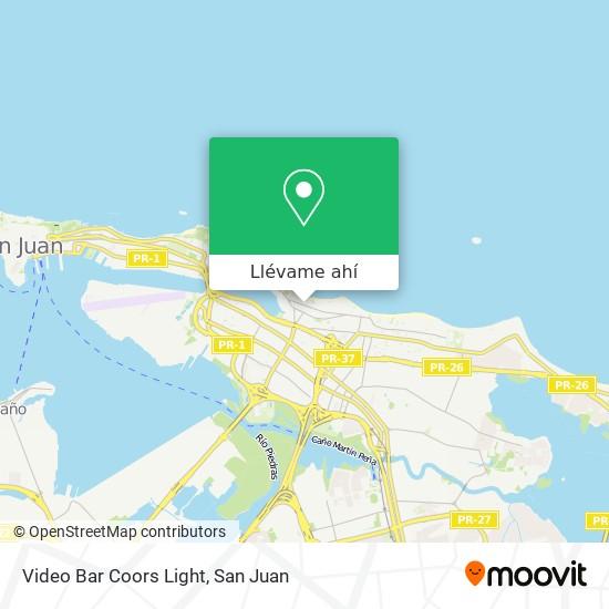 Mapa de Video Bar Coors Light