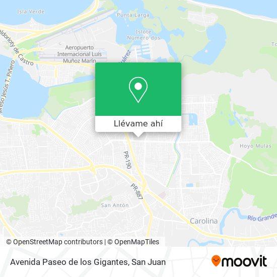 Mapa de Avenida Paseo de los Gigantes