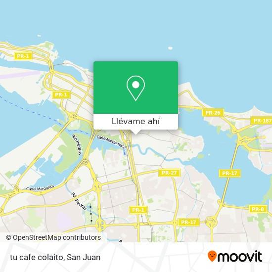 Mapa de tu cafe colaito
