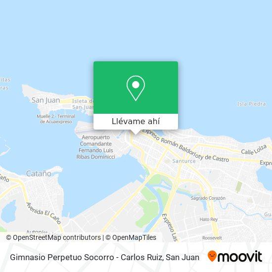 Mapa de Gimnasio Perpetuo Socorro - Carlos Ruiz