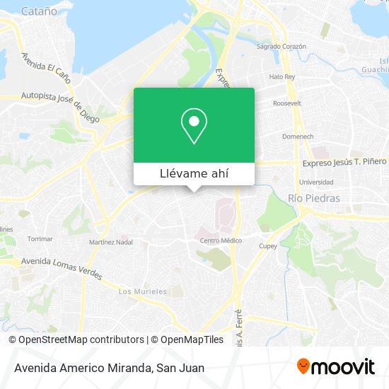 Mapa de Avenida Americo Miranda