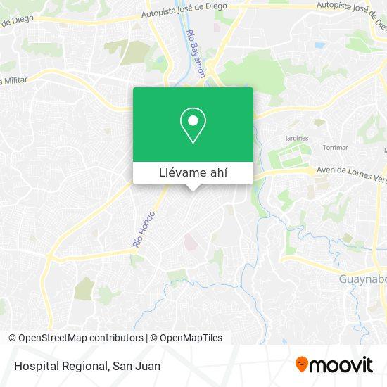 Mapa de Hospital Regional