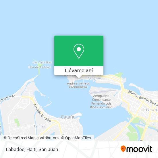 Mapa de Labadee, Haiti