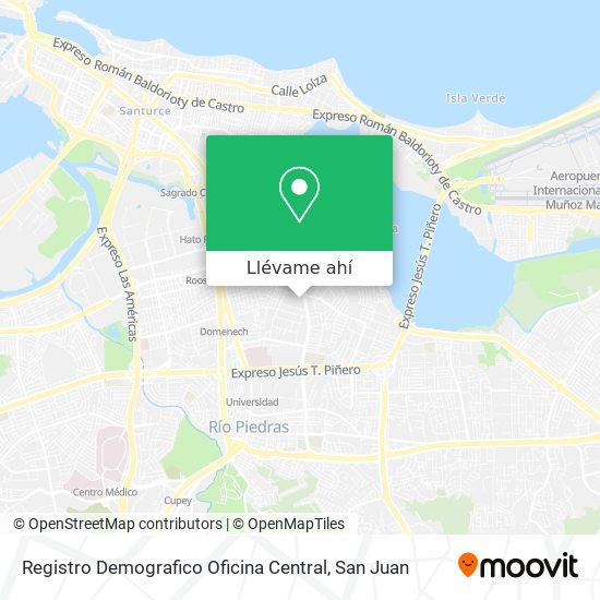 Mapa de Registro Demografico Oficina Central