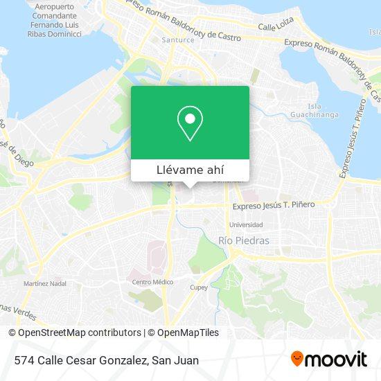 Mapa de 574 Calle Cesar Gonzalez