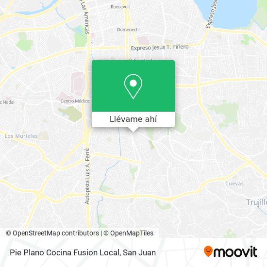 Mapa de Pie Plano Cocina Fusion Local