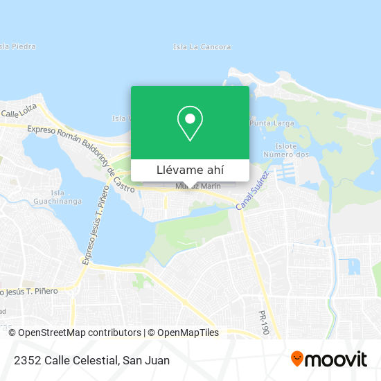 Mapa de 2352 Calle Celestial