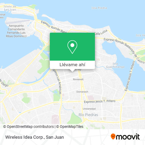 Mapa de Wireless Idea Corp.