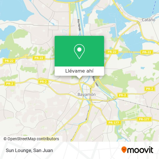 Mapa de Sun Lounge