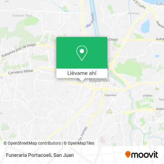 Mapa de Funeraria Portacoeli
