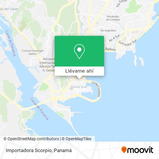 Mapa de Importadora Scorpio