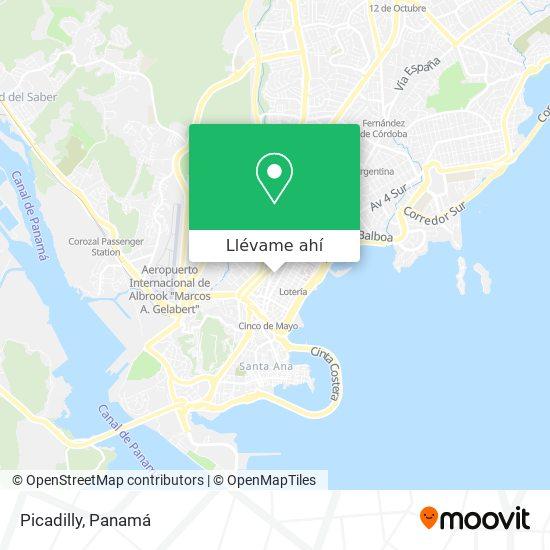 Mapa de Picadilly