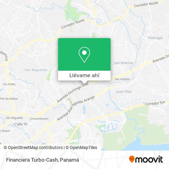 Mapa de Financiera Turbo-Cash