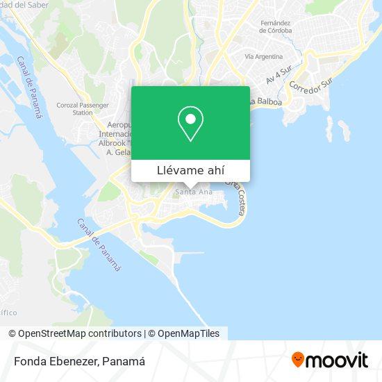 Mapa de Fonda Ebenezer