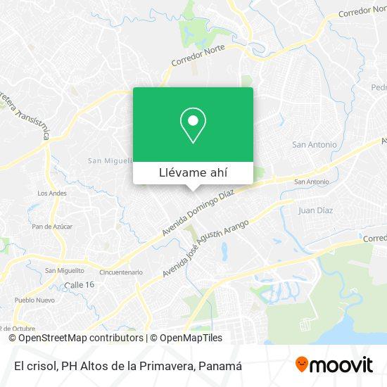 Mapa de El crisol, PH Altos de la Primavera