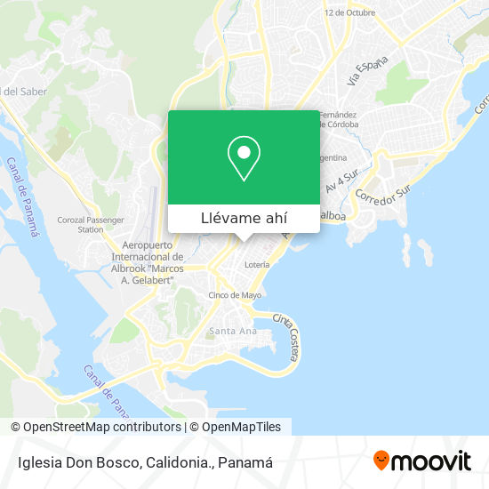 Mapa de Iglesia Don Bosco, Calidonia.