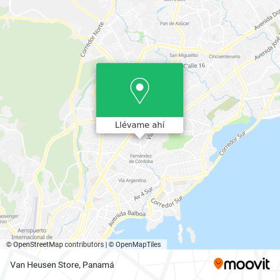 Mapa de Van Heusen Store