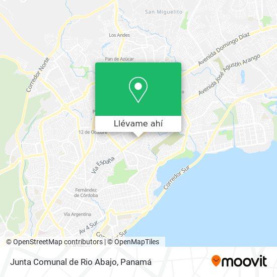 Mapa de Junta Comunal de Rio Abajo