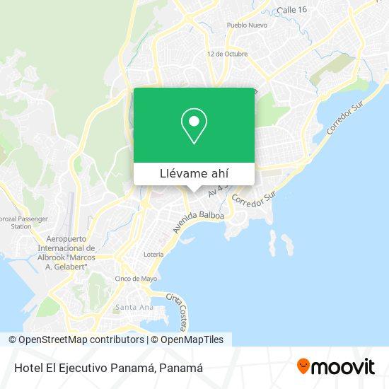 Mapa de Hotel El Ejecutivo Panamá