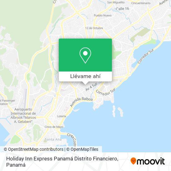 Mapa de Holiday Inn Express Panamá Distrito Financiero