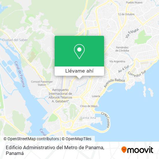 Mapa de Edificio Administrativo del Metro de Panama