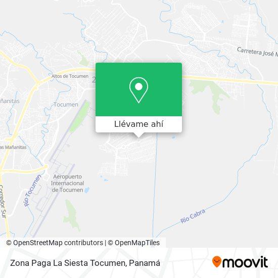 Mapa de Zona Paga La Siesta Tocumen