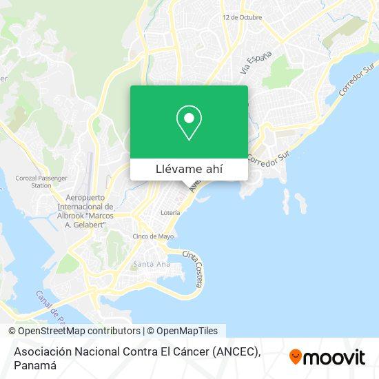 Mapa de Asociación Nacional Contra El Cáncer (ANCEC)