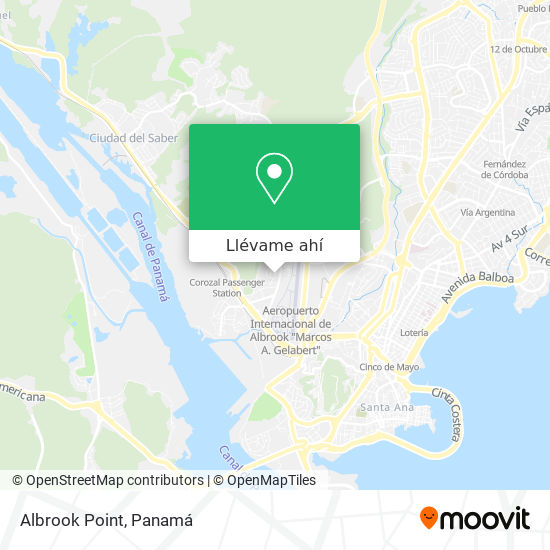 Mapa de Albrook Point