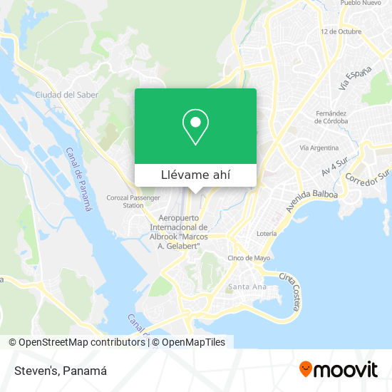 Mapa de Steven's