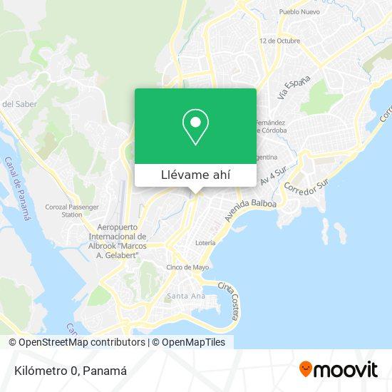 Mapa de Kilómetro 0
