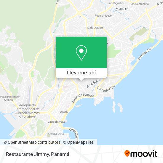 Mapa de Restaurante Jimmy