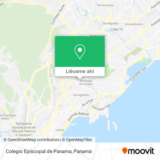 Mapa de Colegio Episcopal de Panama