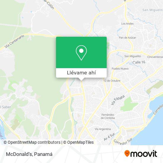 Mapa de McDonald's