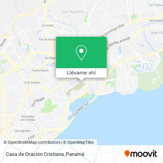 Mapa de Casa de Oración Cristiana