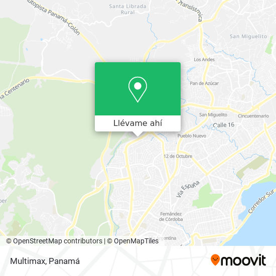 Mapa de Multimax