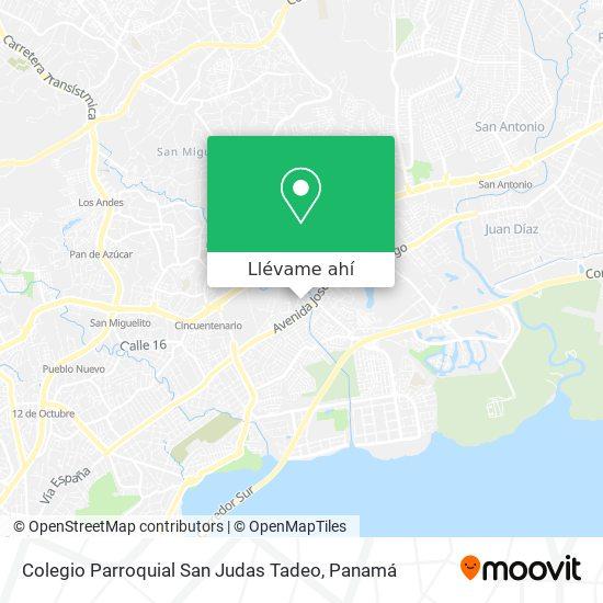 Mapa de Colegio Parroquial San Judas Tadeo