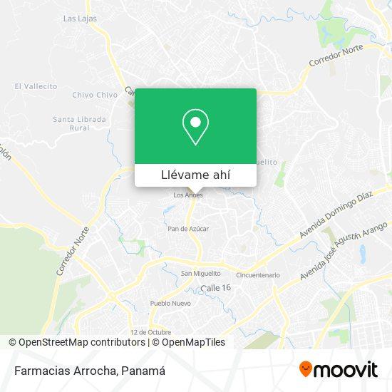 Mapa de Farmacias Arrocha