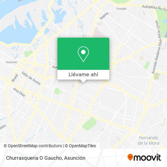 Mapa de Churrasqueria O Gaucho