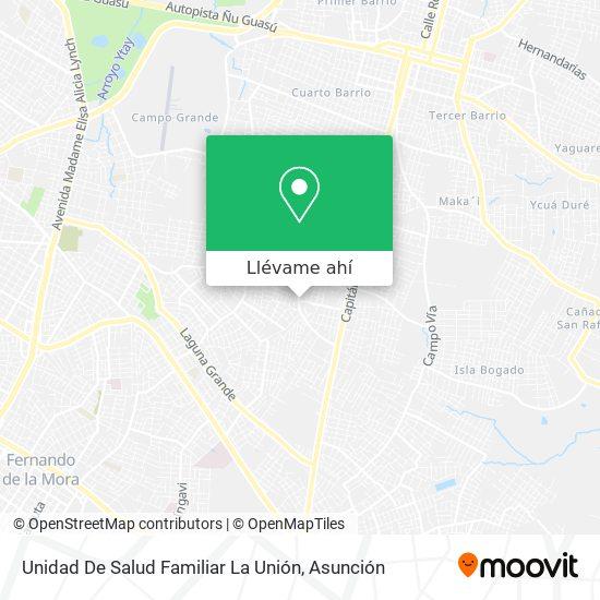 Mapa de Unidad De Salud Familiar La Unión