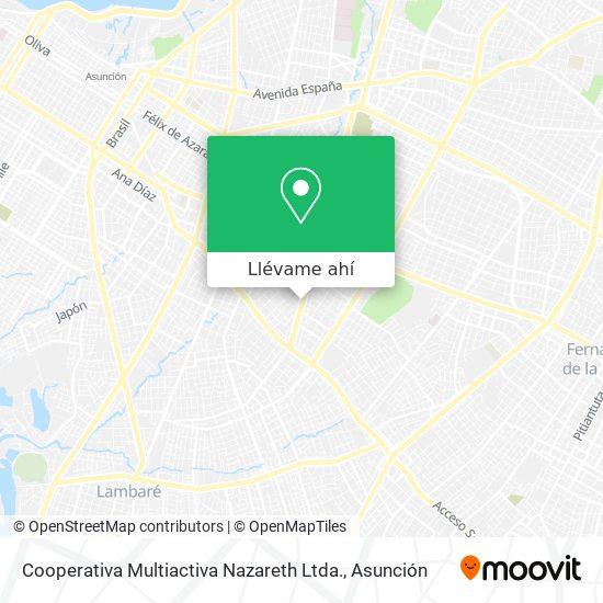 Mapa de Cooperativa Multiactiva Nazareth Ltda.