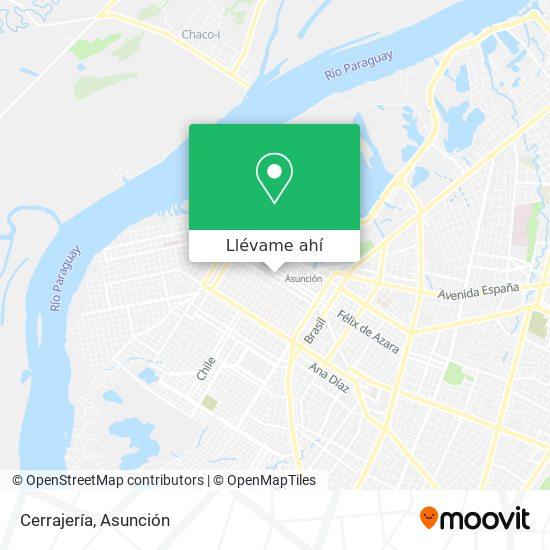 Mapa de Cerrajería