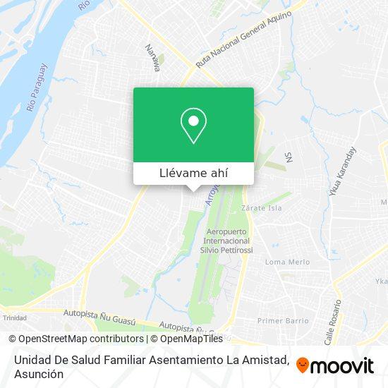 Mapa de Unidad De Salud Familiar Asentamiento La Amistad