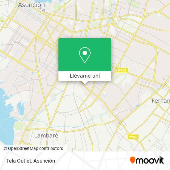 Mapa de Tela Outlet